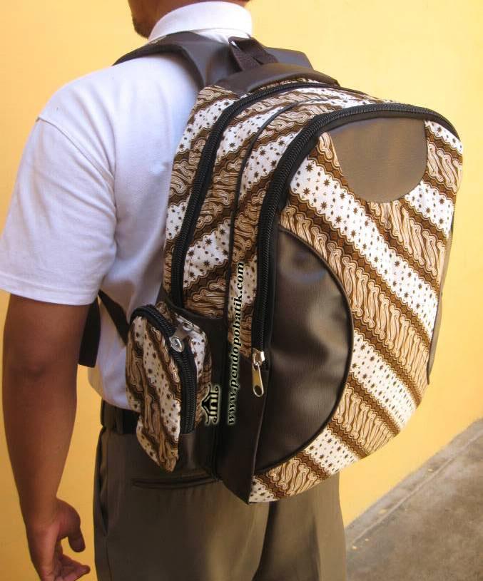 Tas Ransel Laptop Batik