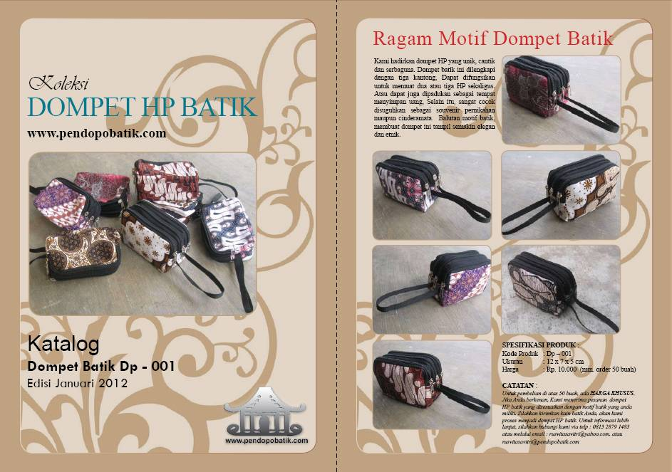 Katalog Dompet HP Batik