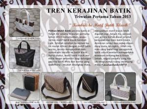 Tren Motif Kerajinan Batik 2013