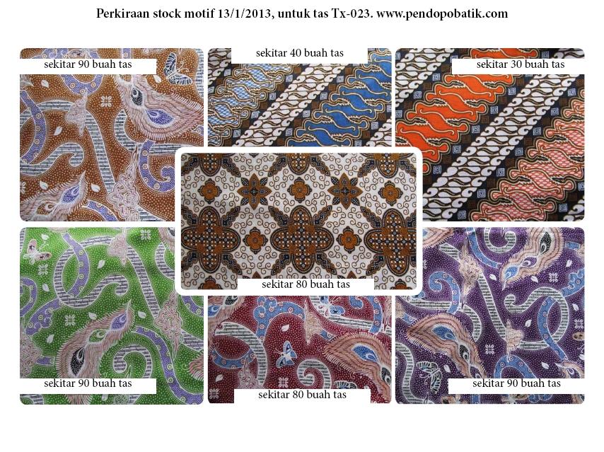 Motif Batik Warna Warni