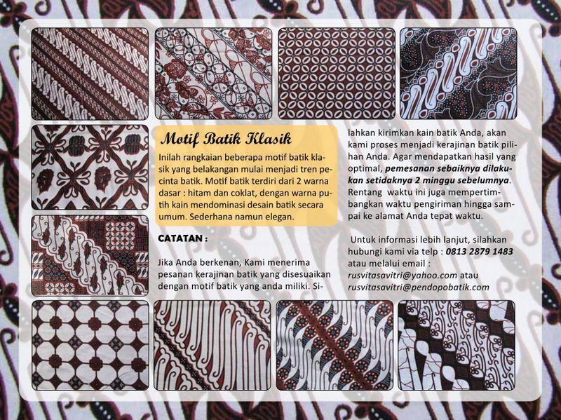Memilih Motif Batik